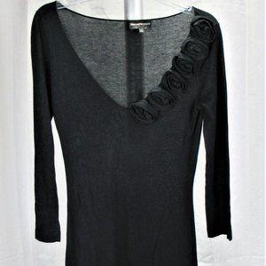 Emporio Armani Black V Neck Dress Size 42 Euro
